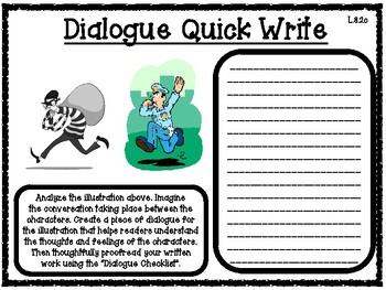 Dialogue Quick Writes