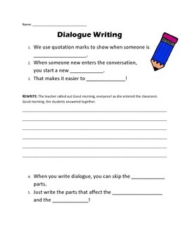 Dialogue / Quotation Marks Freebie Practice