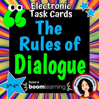 Dialogue Rules Capitalization and Punctuation Boom Cards Digital Task Cards