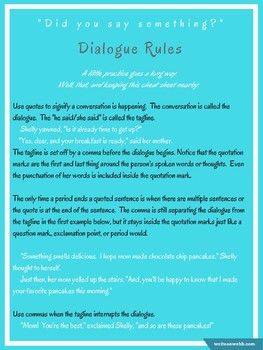Dialogue Rules Handout