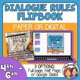 Dialogue Rules Reference Flip Book plus Google Slides Digital Version