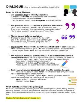 Dialogue Rules - Writing a Narrative