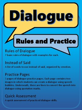 Dialogue Rules and Practice Pages