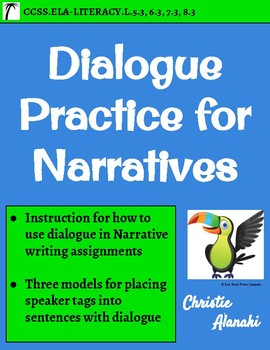 Dialogue Sentence Structures for Writing Narratives