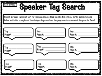 Dialogue Tag Search