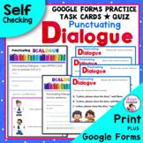 Dialogue Task Cards Plus Free Bonus Worksheet