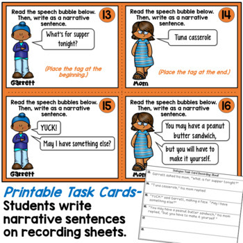 Dialogue Task Cards (Quotation Marks)