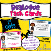 Dialogue Task Cards (Quotation Marks) | PDF and Digital | Distance Learning