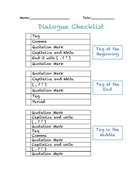 Dialogue Video Steps and Checklist