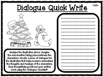 Dialogue Winter Themed Quick Writes