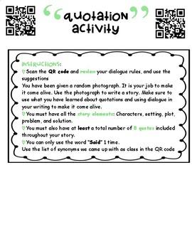 Dialogue Writing Activity