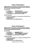 Dialogue Writing Assignment