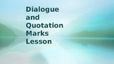 Dialogue Writing Power Point Lesson