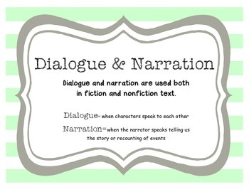 Dialogue and Narration Poster
