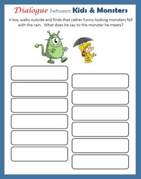Dialogue between Kids and Monsters (Halloween)