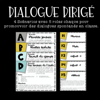 Dialogue dirigé - Thème: l'école