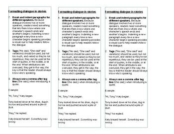 Dialogue format bookmarks
