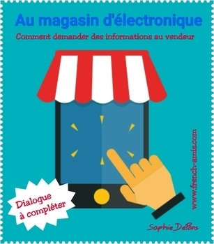 French writing - Dialogue to complete - Au magasin La Fnac