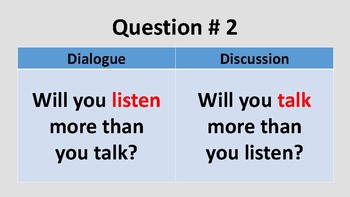 Dialogue or discussion?