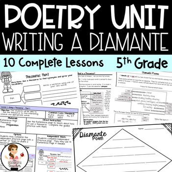 Writing a Diamante - Poetry Writing Unit with Figurative Language