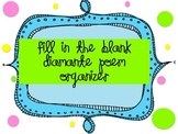 Diamante Poem Organizer {Fill in the Blank}