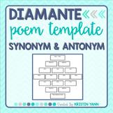 Diamante Poem Organizer / Template / Planner