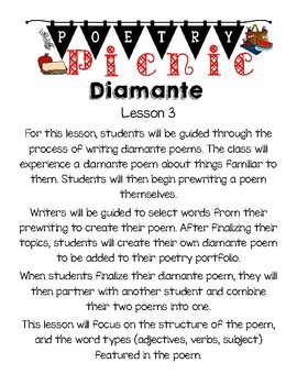 Diamante Poetry Lesson Plan