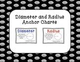 Diameter and Radius Anchor Charts