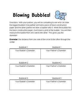 Diameter of Bubbles