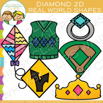 Diamond Real Life Objects 2D Shapes Clip Art