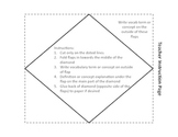 Diamond 4 Term/Concept Foldable