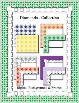 Diamond Backgrounds and Borders