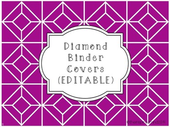 Diamond Binder Covers {EDITABLE}
