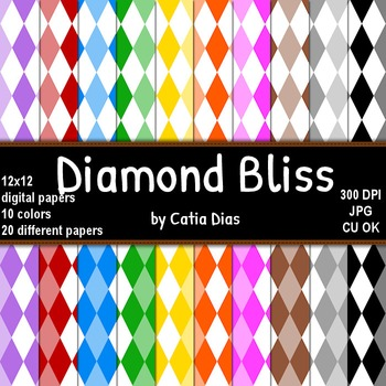 Diamond Bliss - 20 Digital Papers