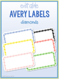 Diamond Border Labels * Editable * Avery 5163 (4x2)