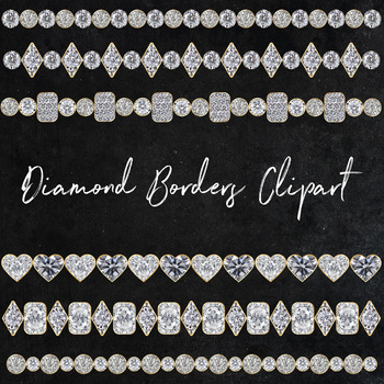 Diamond Borders Clipart, Sparkle Diamonds, Diamond Border, Diamond Design