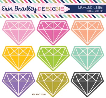 Diamond Clipart Graphics - Colorful