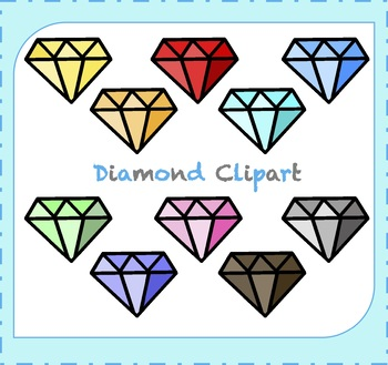 Diamond Clipart / Jewelry Clipart / Gemstone Clipart