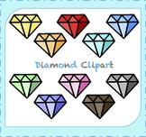 Diamond Clipart / Jewelry Clipart / Gemstone Clipart