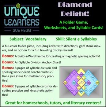 Diamond Delight File Folder for Silent-e Syllables
