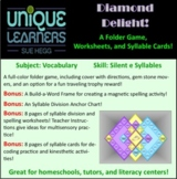 Diamond Delight File Folder for Silent-e Syllables