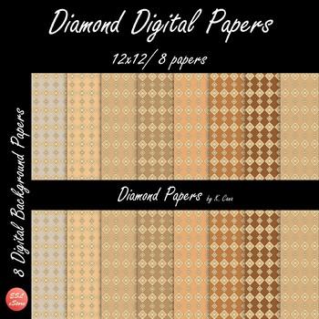 Diamond Digital Papers Set