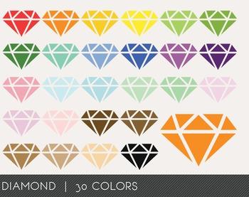 Diamond Digital Clipart, Diamond Graphics, Diamond PNG, Rainbow Diamond