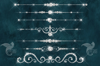 Diamond Dividers Clipart - luxury png wedding graphics