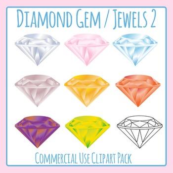 Diamond Gem / Jewels 2 Clip Art Set for Commercial Use