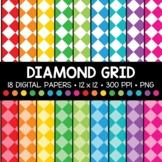 Diamond Grid Digital Paper