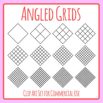 Diamond Grids / Blank Templates for Patterns, Tables 2 Clip Art Commercial Use