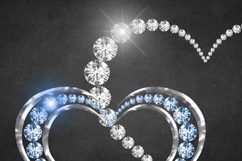 Diamond Heart Frames Clipart