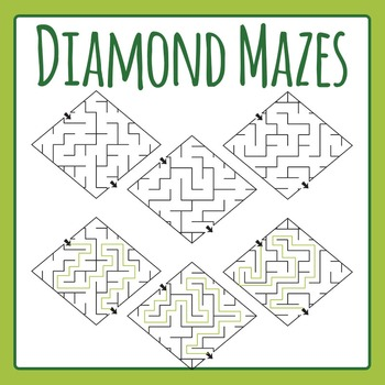 Diamond Mazes Clip Art Set for Commercial Use