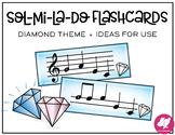 Sol-Mi-La-Do Flashcards + Ideas for Games - Diamond Theme